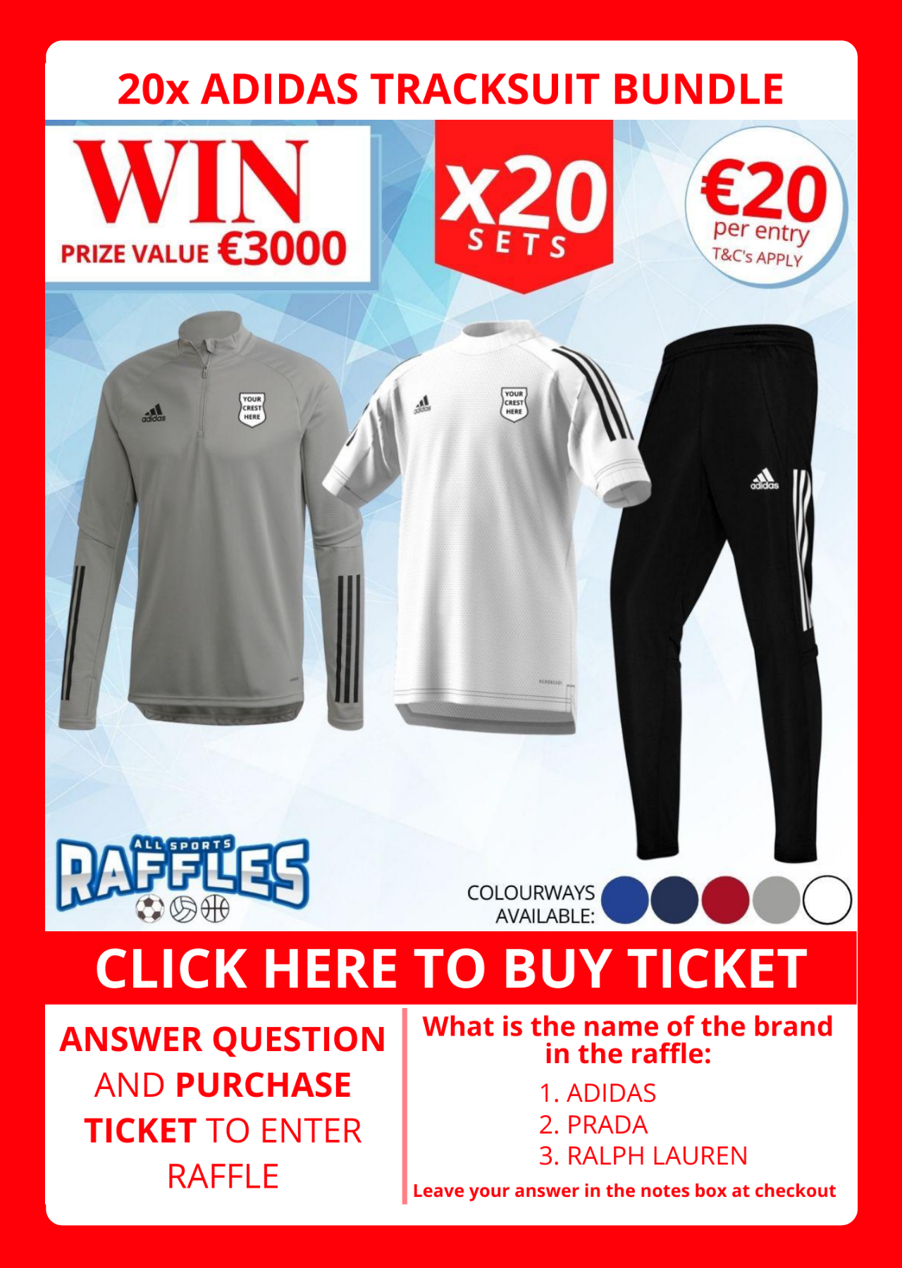 Win 20 sets of leisurewear for only €20 here