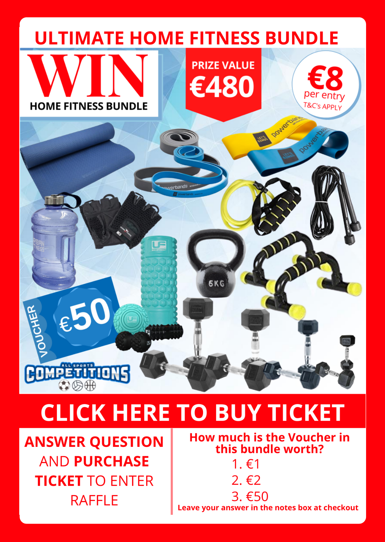 WIN the Ultimate Fitness Bundle for only €8