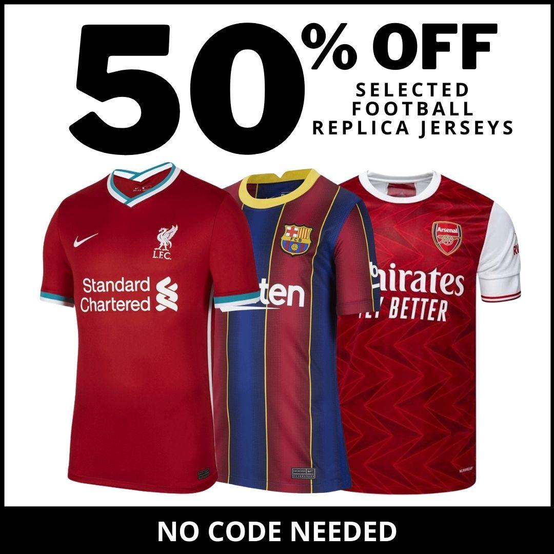 50% OFF Soccer Replica Jerseys