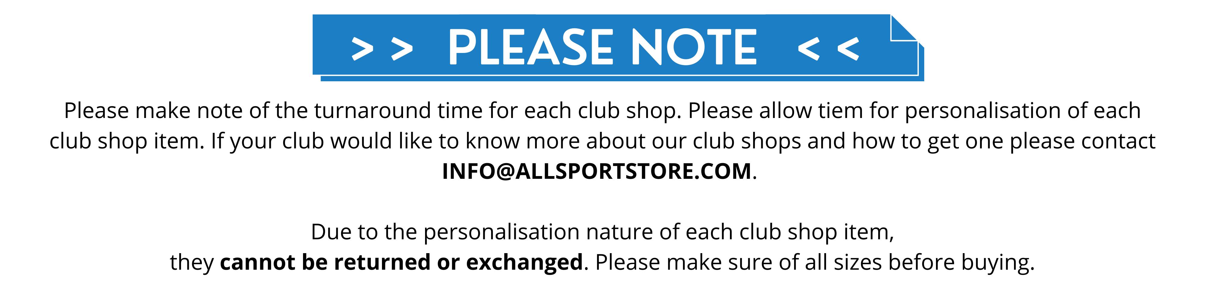 Club Shops