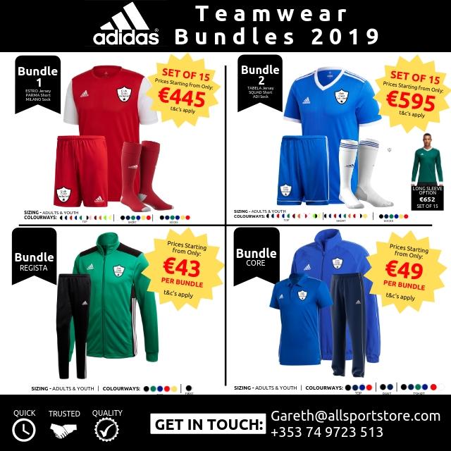 Adidas Teamwear Bundles 2019