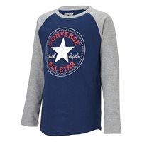 Converse Chick Long Sleeve Tee - Navy/Grey - Kids