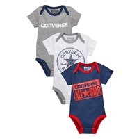 Converse Set of 3 Babygrows - Navy/White/Grey