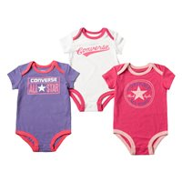 Converse Set of Body Suit - Pink/Purple/White
