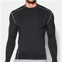 Under Armour Mens Cold Gear Armour Mock -  Black