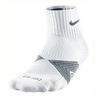 Nike DriFit Cushioned Running Sock -  White