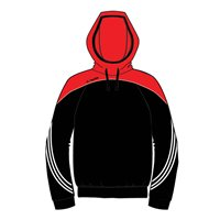 ONeills Parnell Hoody - Black/Red/White