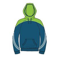 ONeills Parnell Hoody - Navy/Neon Lime/White