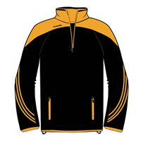 ONeills Parnell Half Zip Training Top - Black/Amber/Amber