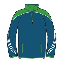 ONeills Parnell Half Zip Training Top - Navy/Emerald/White