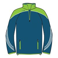ONeills Parnell Half Zip Training Top - Navy/Neon Lime/White