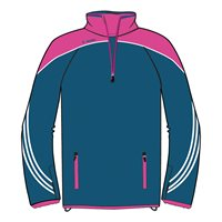 ONeills Parnell Half Zip Training Top - Navy/Pink/White