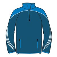 ONeills Parnell Half Zip Training Top - Navy/Royal/White