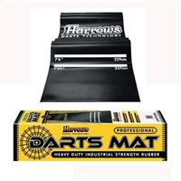 Harrows Professional Dart Mat - Black