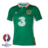 Umbro Ireland Home Jersey 2016 - Adult - Green/White