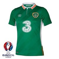 Umbro Ireland Home Jersey 2016 - Junior - Green/White