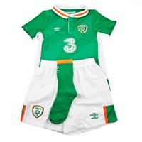 Umbro Ireland Kids Home Kit 2016 - Green/White