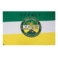 GAA Offaly 5x3 Crested Flag
