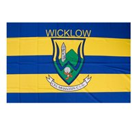 GAA Wicklow 5x3 Crested Flag