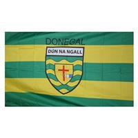 GAA Donegal 5x3 Crested Flag