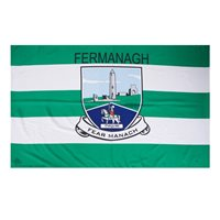 GAA Fermanagh 5x3 Crested Flag