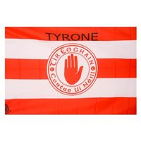 GAA Tyrone 5x3 Crested Flag