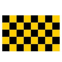 Beagh Hurling  Checkered Flag 5x3 - Black/Amber