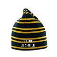 Beagh Hurling  Striped Beanie Club Name - Black/Amber