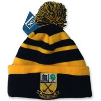 BeaghGAA Beagh Hurling Stripped Bobble Hat with Crest