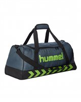 Hummel Authentic Sports Bag - Dark Slate/Green Flash