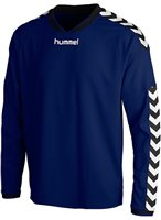 Hummel Stay Authentic Long Sleeve Poly Jersey - Navy