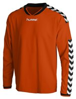 Hummel Stay Authentic Long Sleeve Poly Jersey - Orange