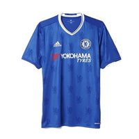 Adidas Chelsea Adults Home S/S Jersey 16/17 - Royal/White