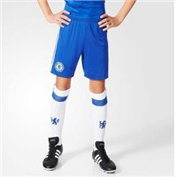 Adidas Chelsea Kids Home Shorts 16/17 - Royal/White
