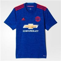 Adidas Man Utd Adults Away S/S Jersey 16/17 - Royal/Red
