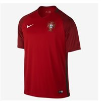 Nike Portugal Mens Home S/S Jersey 16/17 -  Burgundy