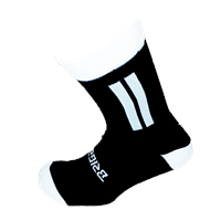 Briga Midi Football Sock - Black/White