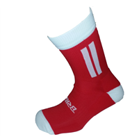 Briga Midi Football Sock - Red/White