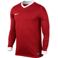 Nike L/Sleeve Youth Striker IV Jersey - University Red/University Red/White/White