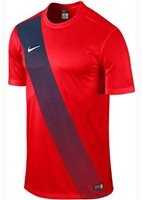 Nike S/Sleeve Youth Sash Jersey - University Red/Midnight Navy/Football White