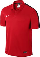 Nike Youth Squad 15 S/Sleeve Polo - Crimson/Obsidian/White