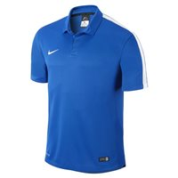 Nike Youth Squad 15 S/Sleeve Polo - Royal Blue/White/White