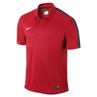 Nike Youth Squad 15 S/Sleeve Polo - University Red/Black/White