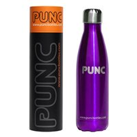 Punc 500ml Double Insulated Stainless Steel Bottle - Purple