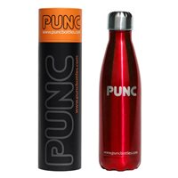 Punc 500ml Double Insulated Stainless Steel Bottle - Red