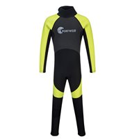 Portwest Kids Splash 3mm Streamer Wetsuit - Black/Lime