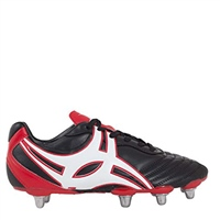 Gilbert Boot S/Step XV LO 8S Rugby Boot - Black/White/Red