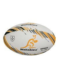 Gilbert Australia Rugby Supporters Ball - White/Yellow/Green