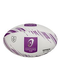 Gilbert Challenge Cup Rugby Supporters Ball - White/Purple