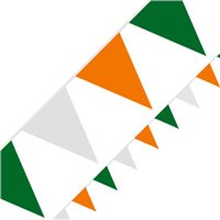 TCF 10m Irish Bunting - Green/White/Gold
